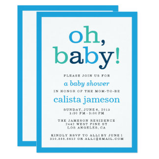 Oh bébé ! Invitations modernes de baby shower de