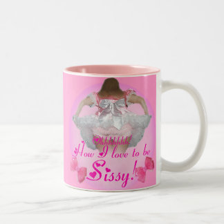 Oh comment j'aime être poule mouillée mug bicolore