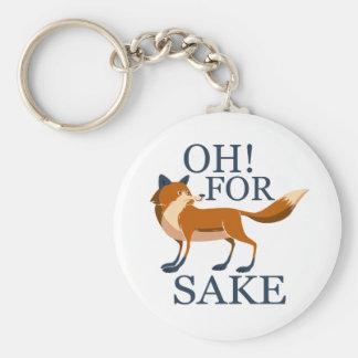 Oh dans l'intéret de renard porte-clé rond