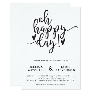 Oh faire-part de mariage typographique de jour