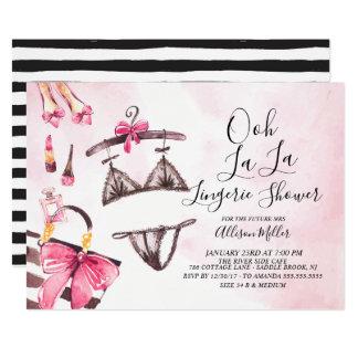 Oh ! invitation nuptiale de douche de lingerie de