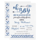 Oh invitation tribale de baby shower - COUTUME