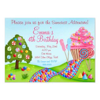 Oh invitations douces de petit gâteau