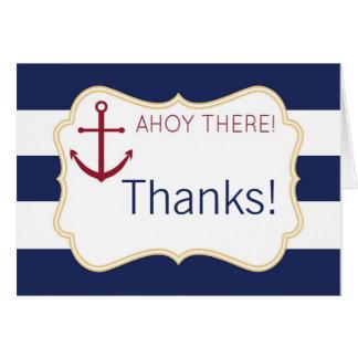 Oh là carte de remerciements nautique de baby