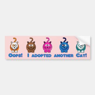 Oh là là J ai adopté un autre chat Adhésif Pour Voiture