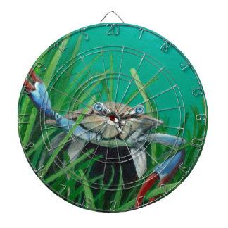 Oh là rencontrent le crabe de dessous de mer de jeu de fléchettes