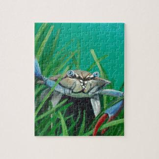 Oh là rencontrent le crabe de dessous de mer de puzzle