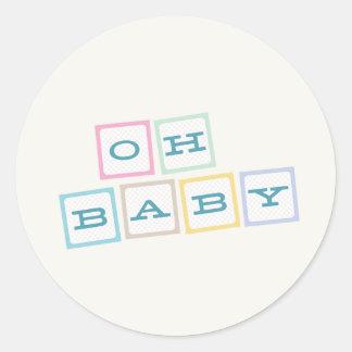 Oh le bébé bloque l'autocollant - Teal