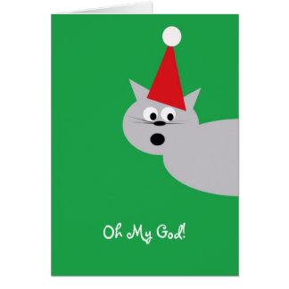 Oh mon Dieu ils ont tué Père Noël ! Carte De Vœux
