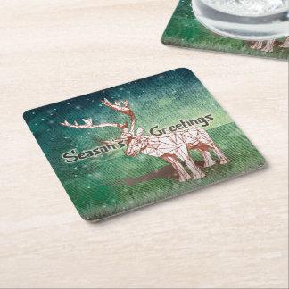 Oh mon Joyeux Noël de Deer~ ! dessous de verre de Dessous-de-verre Carré En Papier