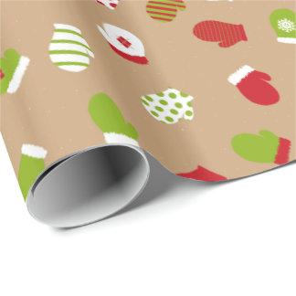 Oh quel amusement ! Papier d'emballage de mitaines Papier Cadeau Noël