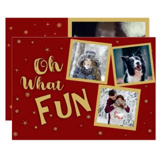 Oh quelle carte de Noël de photo d'amusement
