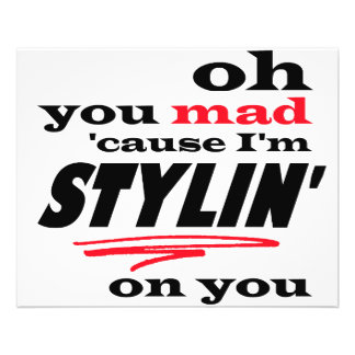Oh vous cause folle je suis Stylin sur vous Prospectus 11,4 Cm X 14,2 Cm