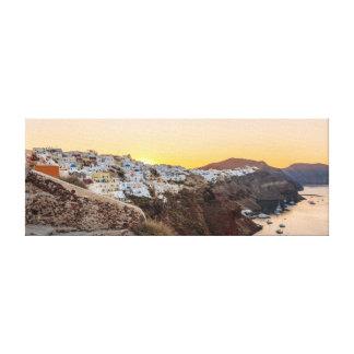 Oia, lever de soleil de Santorini Toile