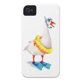 Oie blanche naviguante au schnorchel coques iPhone 4
