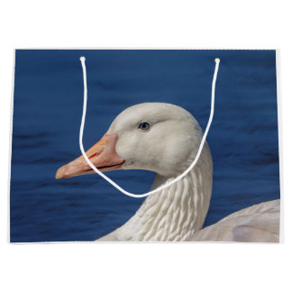 Oie canadienne blanche grand sac cadeau