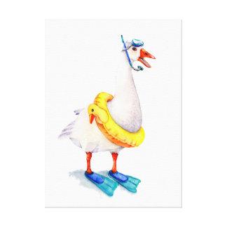 Oie naviguante au schnorchel blanche toiles