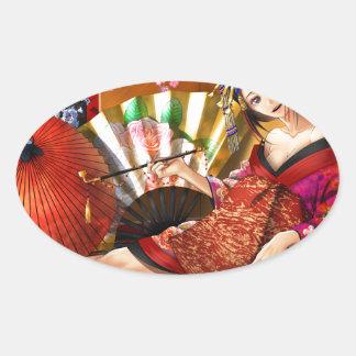 Oiran Sticker Ovale