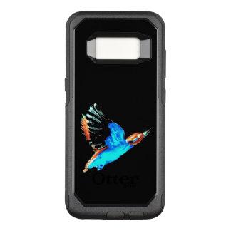 Oiseau abstrait de martin-pêcheur en vol coque samsung galaxy s8 par OtterBox commuter