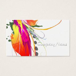 Oiseau abstrait des éclaboussures de peinture de cartes de visite