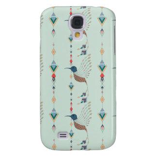 Oiseau aztèque tribal ethnique vintage coque galaxy s4