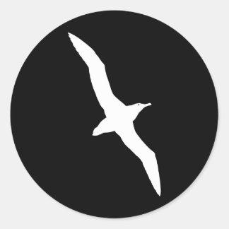 Oiseau blanc d albatros en vol autocollants
