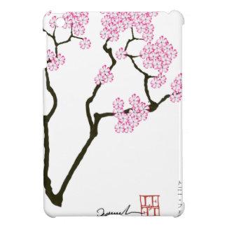 oiseau blanc d'oeil de fleur de Sakura, fernandes Étuis iPad Mini