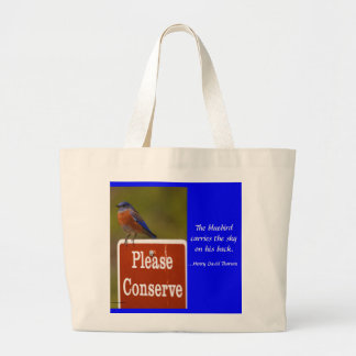 Oiseau bleu avec la citation de Thoreau Sacs Fourre-tout