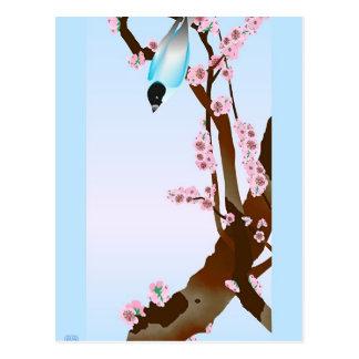 Oiseau bleu - carte postale