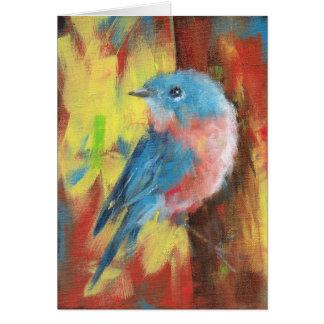 Oiseau bleu - carte pour notes