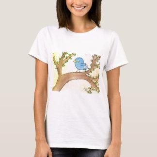 Oiseau bleu dans un arbre t-shirt
