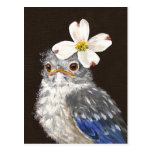 Oiseau bleu de bébé de Hélène avec la carte postal