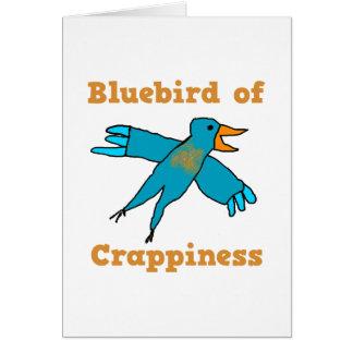 Oiseau bleu de Crappiness Cartes De Vœux