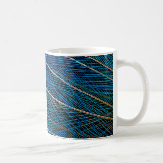 Oiseau bleu des plumes de paradis mug