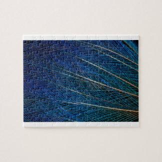 Oiseau bleu des plumes de paradis puzzle