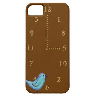 Oiseau bleu d'horloge de coucou avec des nombres d coque Case-Mate iPhone 5