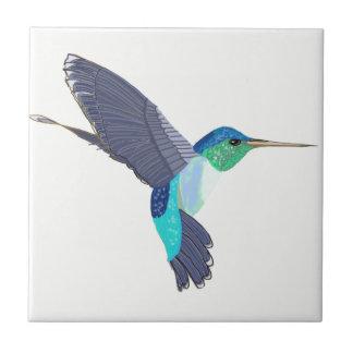 Oiseau bleu et vert de ronflement carreau