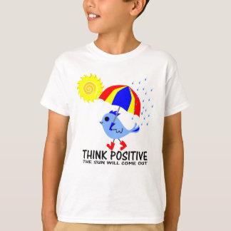 Oiseau bleu - pensez le message positif t-shirt
