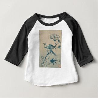 Oiseau bleu t-shirt pour bébé