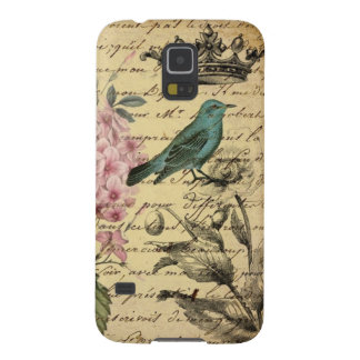Oiseau botanique de Français d'hortensia d'art de Coque Pour Samsung Galaxy S5