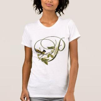 Oiseau chanteur P initial T-shirt