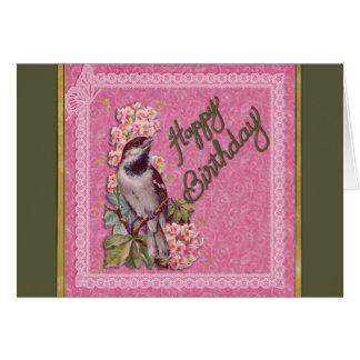 Oiseau d'anniversaire cartes
