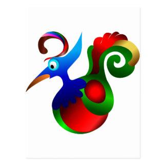 Oiseau d'art abstrait du paradis. Beau Cartes Postales