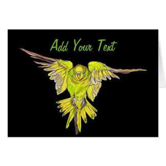 Oiseau d'Australien de perruche de vol Carte De Vœux