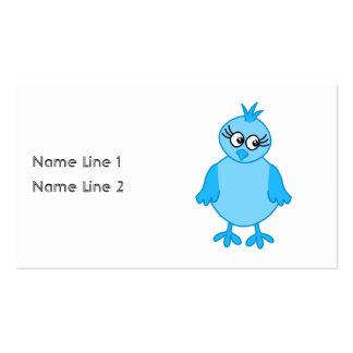 Oiseau de bébé mignon, bleu carte de visite standard