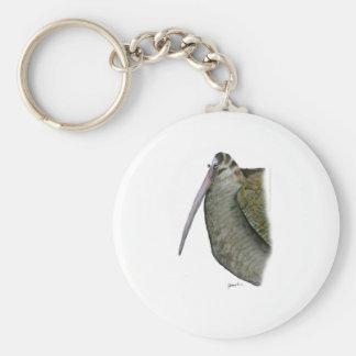 oiseau de bécasse des bois, fernandes élégants porte-clé rond