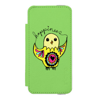 Oiseau de bonheur coque-portefeuille iPhone 5 incipio watson™