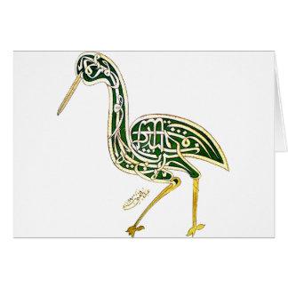 Oiseau de calligraphie (cigogne) carte de vœux
