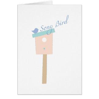 Oiseau de chanson carte de vœux