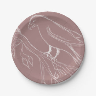 oiseau de chant assiettes en papier